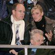 Albert Grimaldi et Charlene Wittstock officialisent leur idylle. Turin, février 2006
