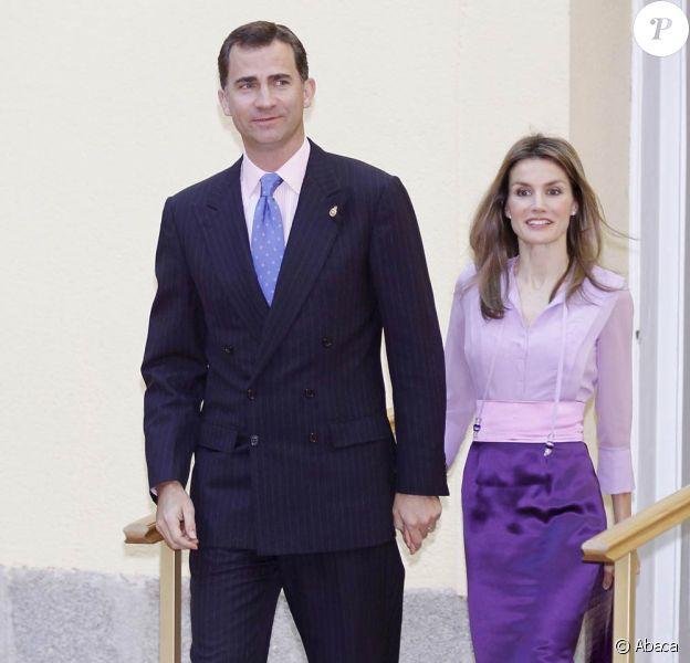 Letizia et Felipe d'Espagne à Madrid, le 23 juin 2010
