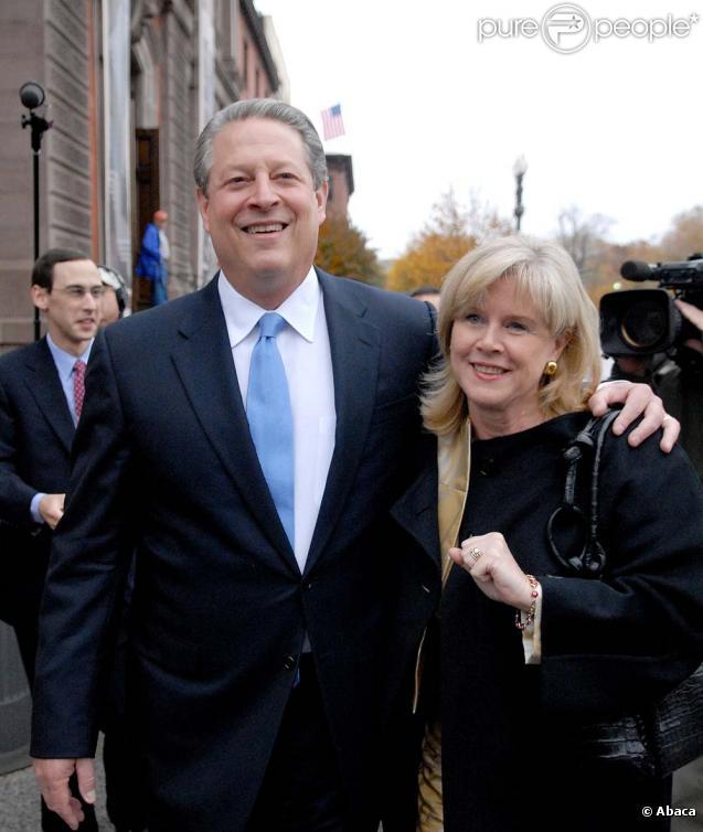 "Al Gore et sa future ex-femme Mary Elizabeth ""Tipper"" Gore"