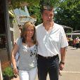 David Douillet et son épouse Valérie à Roland-Garros, en juin 2010.