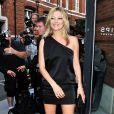 Kate Moss à Londres lors d'une soirée exposition organisée en son honneur