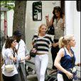 Blake Lively sur le tournage de Gossip Girl à Paris, le 6 juillet 2010