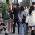Leighton Meester et Blake Lively sur le tournage de Gossip Girl à Paris, le 7 juillet 2010