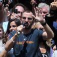 Soixante-dixième anniversaire de Ringo Starr sur Times Square, à New York, le 7 juillet 2010