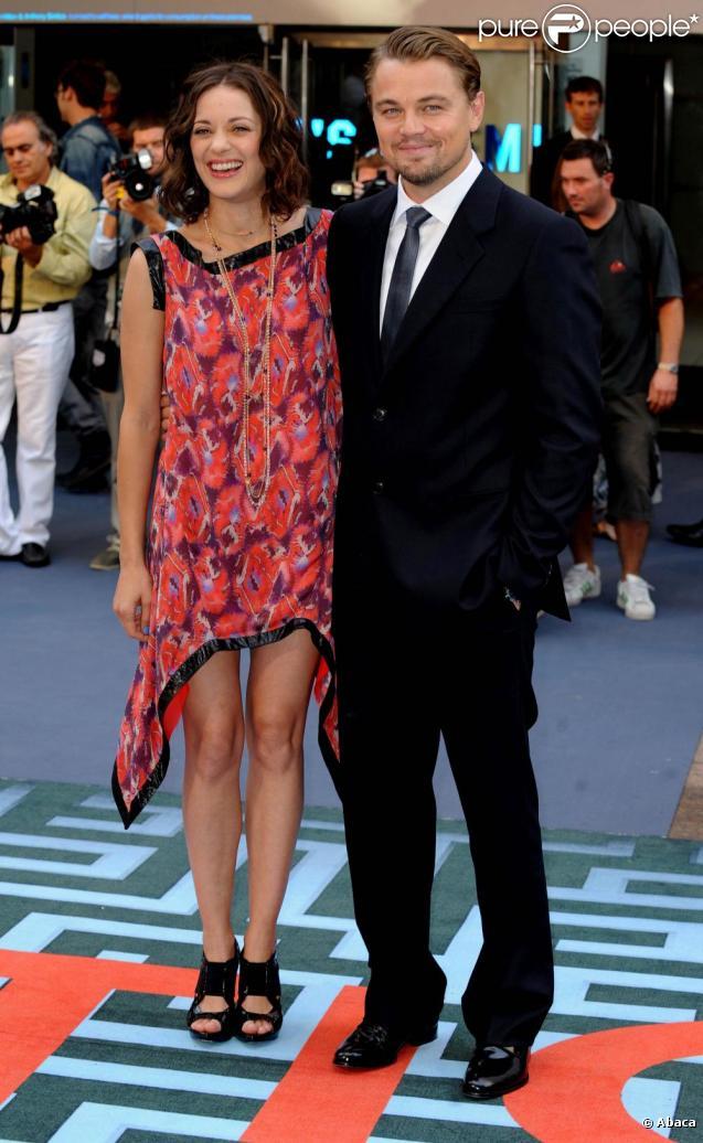 Leonardo DiCaprio et Marion Cotillard à la première d'Inception, à Londres, le 8 juillet 2010.