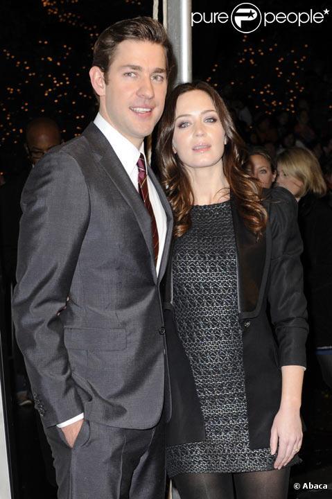 Emily Blunt et John Krasinki à une avant première à New York en décembre 2009