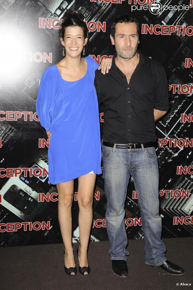Mélanie Doutey et Gilles Lellouche à l'avant-première d'Inception, le 10 juillet 2010.