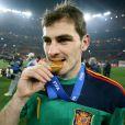 Iker Casillas lors de la finale de la Coupe du monde 2010, le 11  juillet.