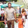 Thomas Jane et sa fille Harlow font du shopping dans les galeries du Malibu Country Mart