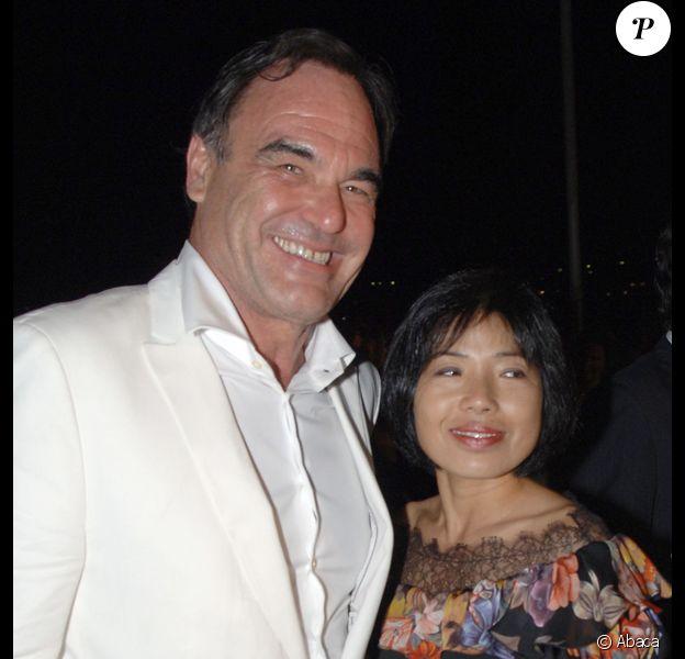 Oliver Stone et sa femme