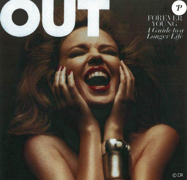 Kylie Minogue en couverture de Out Magazine
