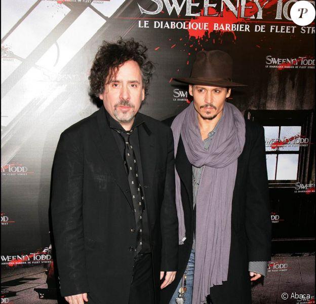 Tim Burton et Johnny Depp, en tournage de Black Shadows dès janvier 2011.