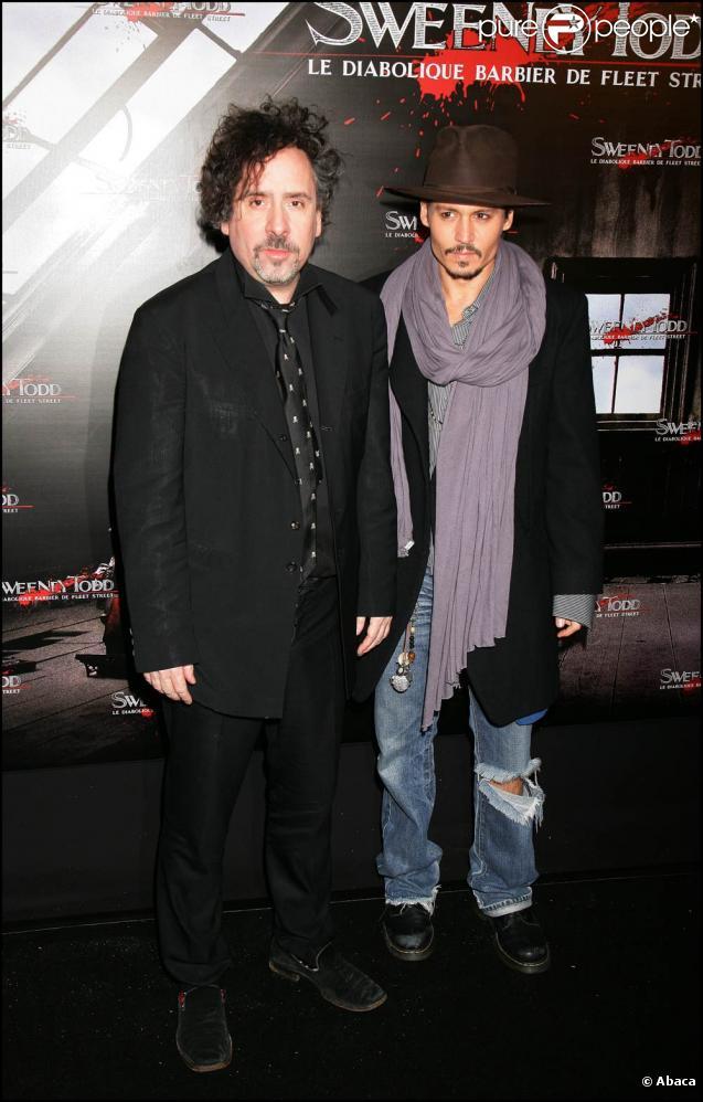 Tim Burton et Johnny Depp, en tournage de  Black Shadows  dès janvier 2011 .