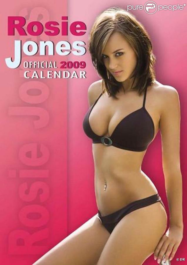 La sexy Rosie Jones en couverture de son calendrier 2009.