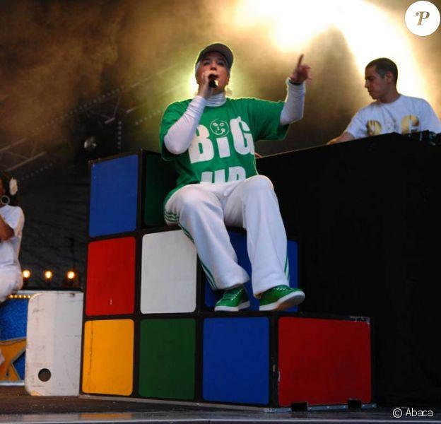 Diam's en concert au festival Brive Plage, le 31 juillet 2010.