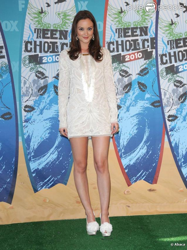 Leighton Meester lors des Teen Choice Awards 2010 à Los Angeles, le 8 août 2010