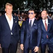 Sylvester Stallone, Jason Statham et Dolph Lundgren en guerre... avant une soirée glamour devant le Tout-London !