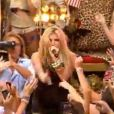 """Kesha qui interprête son titre """"Tik Tok"""" dans l'émission Today Show à New York, le 13 août 2010"""