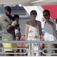 Heidi Klum, Seal, et leurs enfants, en pleine croisière sur la mer méditerranée. Août 2010