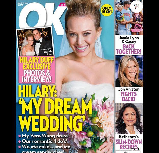 Hilary Duff en couverture de OK! Magazine
