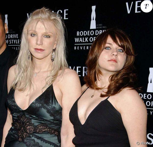 Frances Bean Cobain et Courtney Love, en 2007