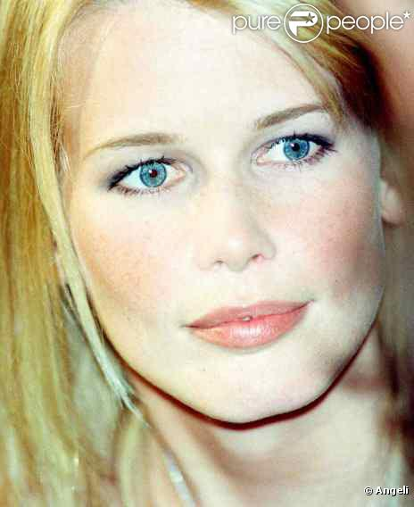 Le top model allemand Claudia Schiffer...