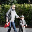 Claudia Schiffer et son fils Caspar