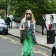 Le top model allemand Claudia Schiffer à la sortie de l'école de ses enfants, le 7 juillet 2010 à Londres