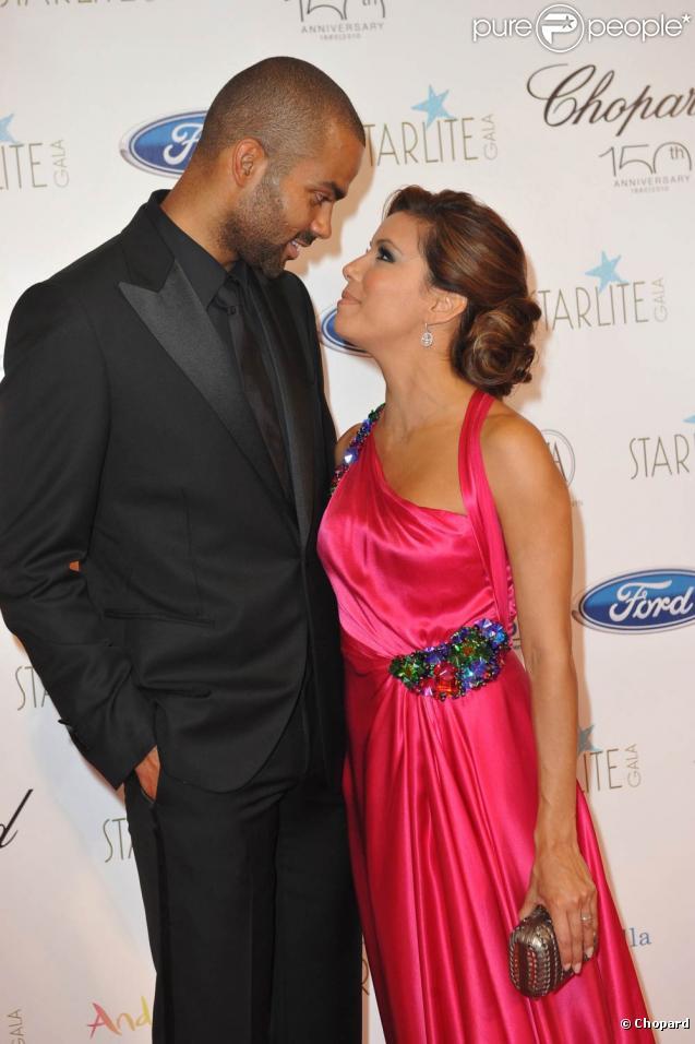 Eva Longoria et Tony Parker lors du premier Starlite Gala qui s'est tenu à l'hôtel Villapadierna à Marbella, le 7 août 2010