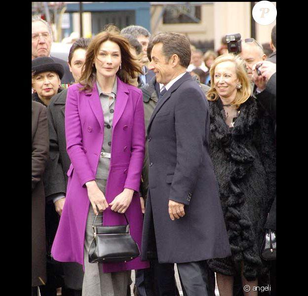 Carla Bruni-Sarkozy et son mari Nicolas Sarkozy