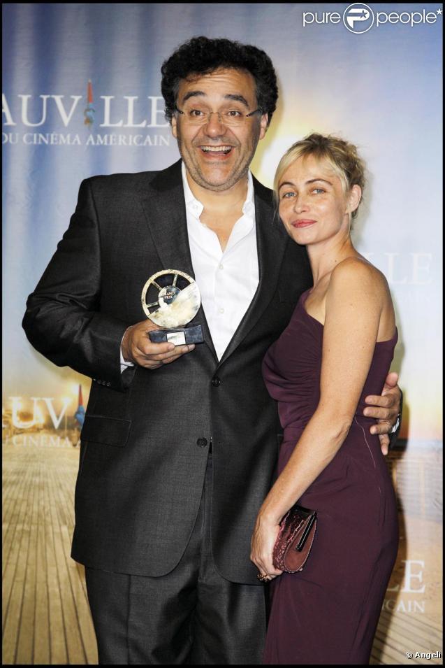 Emmanuelle Béart et Rodrigo Garcia qui obtient le grand prix du jury du Festival de Deauville