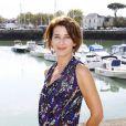 Isabelle Gélinas ( Fais  pas ci, fais pas ça ! ) porte lors du  Festival de la Fiction TV de La Rochelle, samedi 11 septembre.