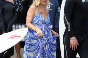 Christina Applegate : Enceinte et magnifique, elle a soutenu son chéri à une compétition de surf !