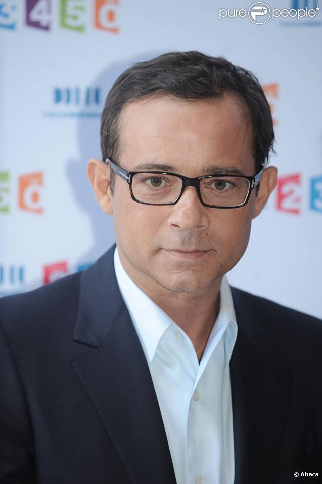 Jean-Luc Delarue lors de la conférence de presse de rentrée de France Télévisions, le 3 septembre 2010