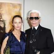 Vanessa Paradis, rayonnante et malicieuse pour soutenir le grand Karl Lagerfed !