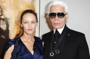 Vanessa Paradis, rayonnante et malicieuse pour soutenir le grand Karl Lagerfed !