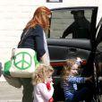 """""""Marcia Cross à la sortie du cours de dans de ses jumelles le 18 septembre 2010 à Los Angeles"""""""
