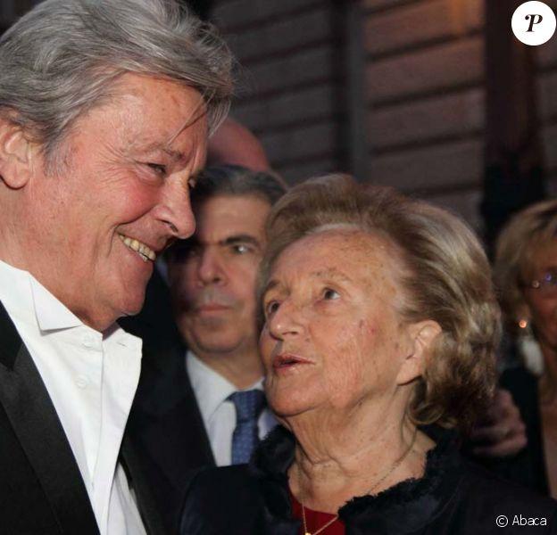 Gala de l'Ifrad à l'Opéra Comique à Paris, le 21 septembre 2010 : Alain Delon et Bernadette Chirac