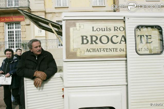 Victor Lanoux sur le tournage de Louis La Brocante