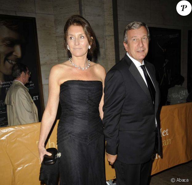 Représentation de L'Or du Rhin au Metropolitan Opera House de New York, le 27 septembre 2010 : Cécilia et Richard Attias.