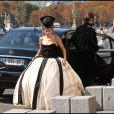 """Tournage du clip """"C'est bientôt la fin"""", de la troupe de Mozart l'Opéra rock. 22 septembre 2010, à Paris"""