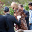Les funérailles de la star hollywoodienne Tony Curtis (mort à 85 ans), au cimetière Green Valley, à Las Vegas, le 4 octobre 2010.