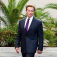 Arnold Schwarzenegger à l'occasion des funérailles de la star hollywoodienne Tony Curtis (mort à 85 ans), au cimetière Green Valley, à Las Vegas, le 4 octobre 2010.
