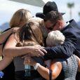 La famille Curtis à l'occasion des funérailles de la star hollywoodienne Tony Curtis (mort à 85 ans), au cimetière Green Valley, à Las Vegas, le 4 octobre 2010.