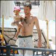 David Arquette et sa fille Coco en 2005