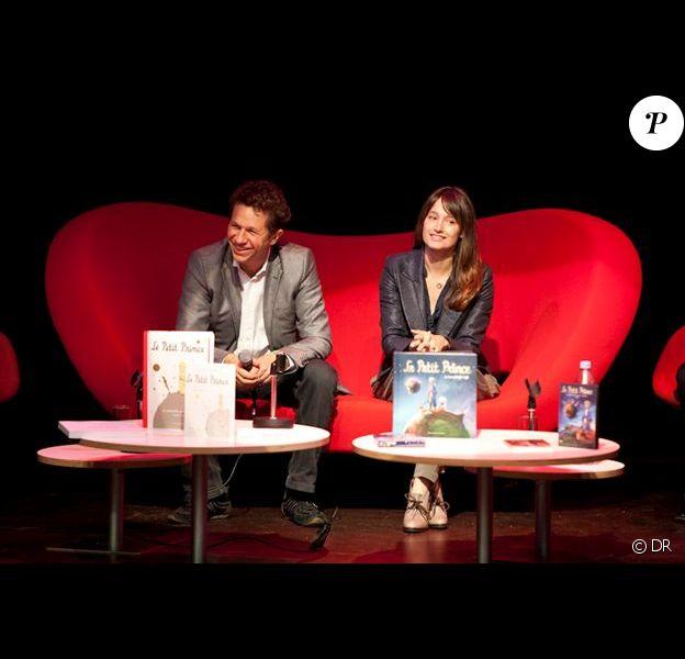 Marie Gillain et Aton Soumache, président de Method Animation. Conférence de presse du Petit Prince pour France Télévisions.