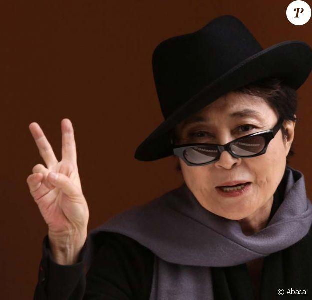 Yoko Ono au 34 Montagu Square, à Londres, le 22 octobre 2010