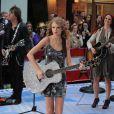 Taylor Swift assure la promotion de son album Speak Now dans l'émission Today Show, à New York, mardi 26 octobre.