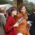 Ines de la Fressange et sa fille Nine, en août 2008
