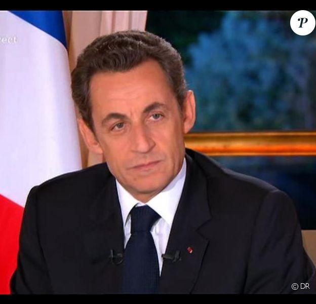 Nicolas Sarkozy, hier soir à la télévision.